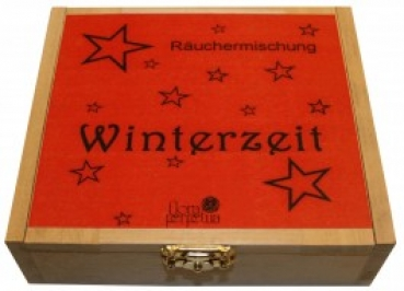 Winterzeit - Räucherkiste