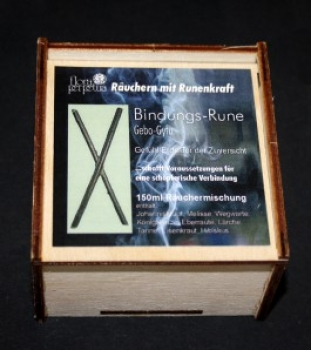 Bindungs-Rune - Räuchermischung in Holzbox 150ml
