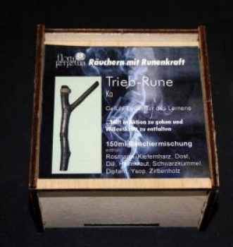 Trieb-Rune - Räuchermischung in Holzbox 150ml