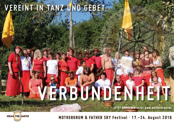Motherdrum Camp mit dem Heal-The-Earth-Dance 2019